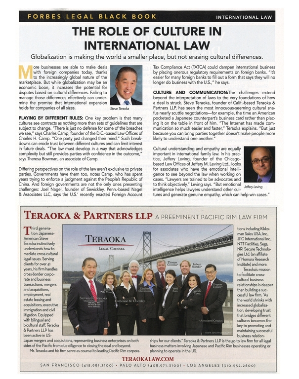 The Role of Culture in International Law